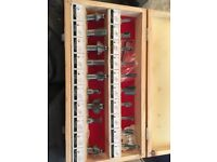 Wood router bit set