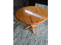Pine Round Table for sale