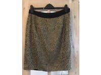Monsoon gold sequin skirt size 12