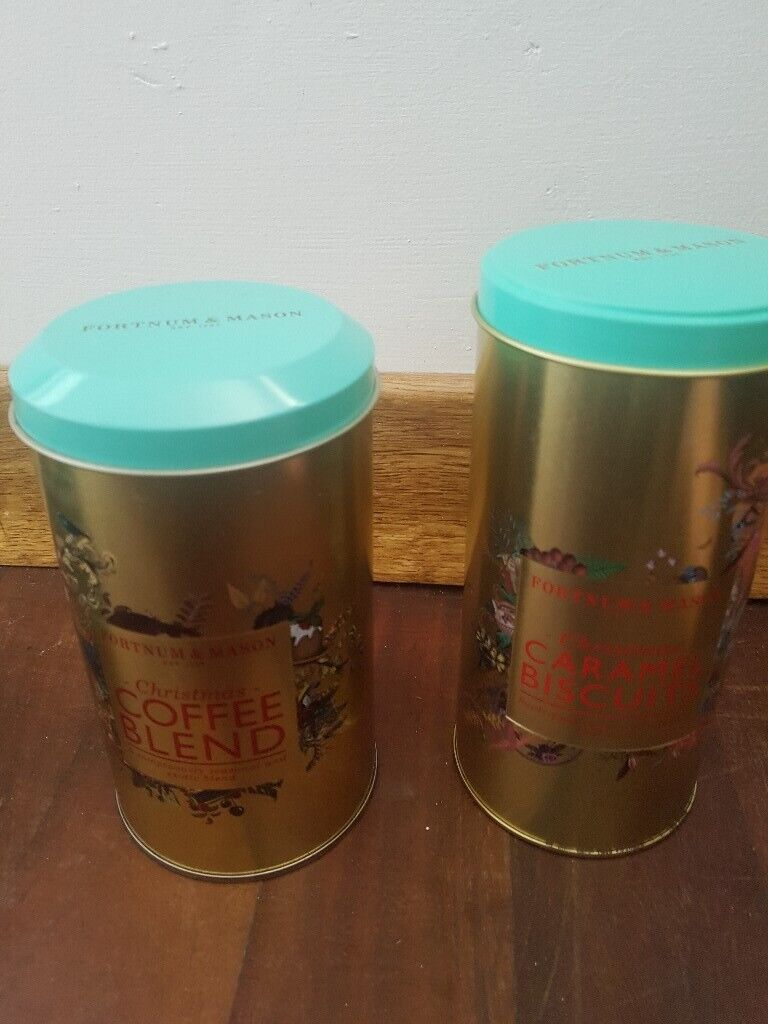 Two Fortnum And Mason Christmas Tins Coffee And Biscuits In Swansea Gumtree