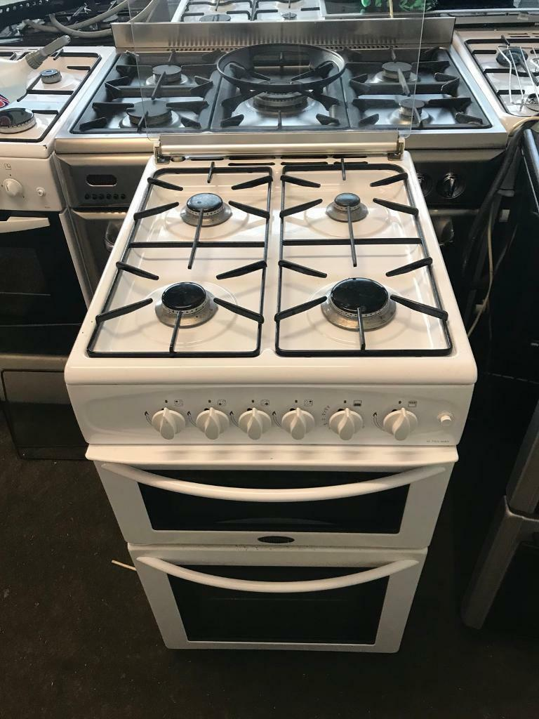 White gas cooker 50cm