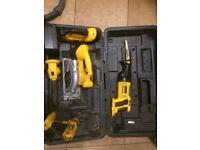 Dewalt 18v xrp set,jigsaw,circular saw,reciprocated saw ,drill and torch