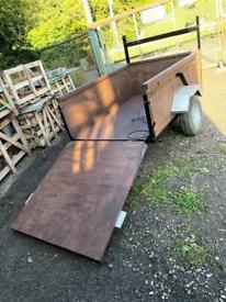 CAR TRAILER WITH DROP DOWN TAILGATE. IDEAL FOR LAWNMOWER, QUAD, MOTORBIKE, LOGS ETC. NEAR YORK ?