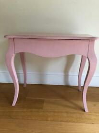 Vintage style small pink dressing table / side table / desk