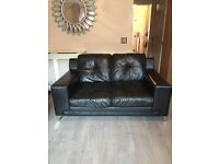 Leather sofa black - 2 Seater and 3 Seater