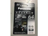 Panasonic SD XC II - 64gb - brand new!!