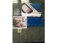 Nintendo 3ds xl blue comes with box charger and two games