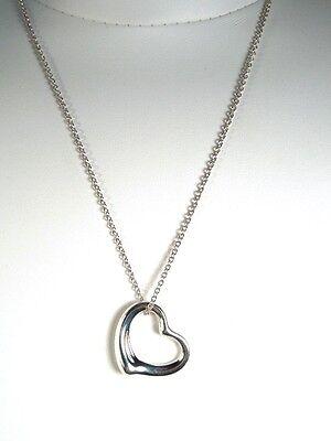 TIFFANY & CO Elsa Peretti Sterling Medium OPEN HEART Pendant - Gift Box