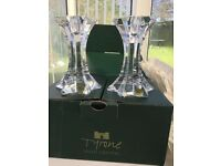 Irish Tyrone Crystal Candlesticks