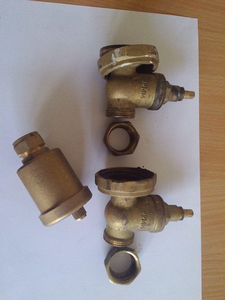22mm Central Heating Pump Valves & 15mm Auto Bottle Air Vent Valve ...