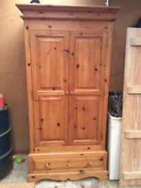Large Solid Pine Wardrobe with drawer