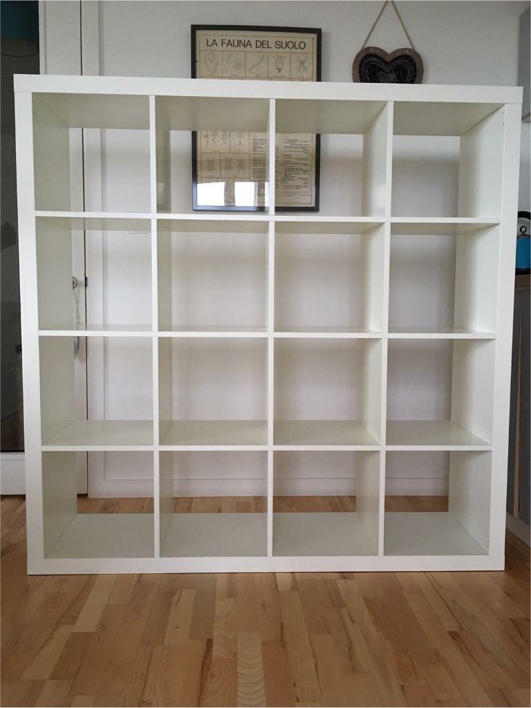 ikea expedit 4x4 shelves in white also called kallax in. Black Bedroom Furniture Sets. Home Design Ideas