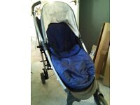 Cossato Yo! Stroller with raincover and new footmuff