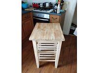 IKEA solid pine kitchen block/storage