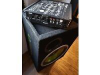 Fusion 300W Subwoofer & Vibe Slick AO Amp