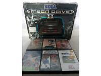 Sega Megadrive 2 Boxed Console & Games