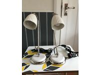 John Lewis pair of cute table lamps looking for new home