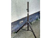 Black Aluminium Speaker or lighting stand. Good condition.