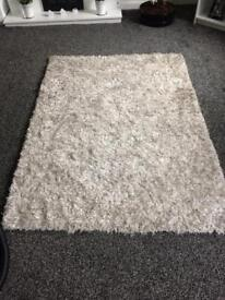 Large thick shaggy rug