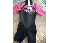Wet suit - pink 10-11 years old excellent condition