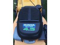 "Honda self propelled mower 18"" cut large grass box lawnmower in Bangor"