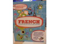 french learn a language cd and flash cards. never used great condition.
