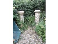 PAIR OF CHIMNEY PLANTERS