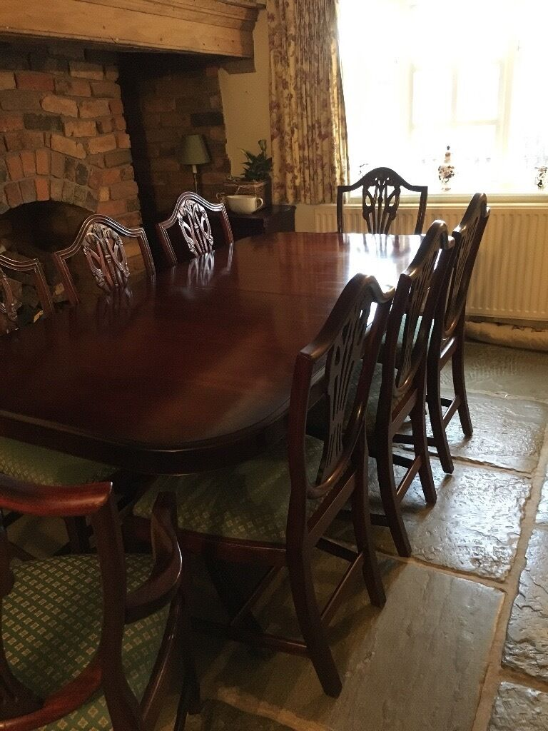 Bridgecraft Mahogany Dining Table with 8 Chairs | in Hinckley ...