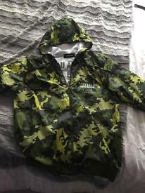 Dsquared camo wind runner jacket xl