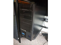 For sale a Gaming PC, computer desk, ultrawide monitor, keyboard and mouse