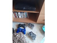 Ps3 with games and 4 controller's