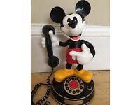 Animated Mickey Mouse landline telephone