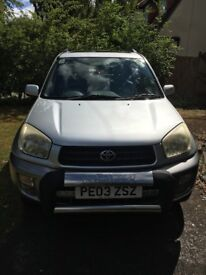 Toyota RAV4 - good condition for age. MOT due August 2019. Snow tyres.