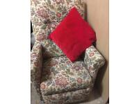 ELECTRIC RISE AND RECLINE MOBILITY CHAIR IN LOVELY FLORAL BROCADE
