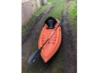 2 X KAYAK's with padded seats and oars