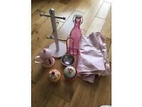 Selection of pink kitchen accesories