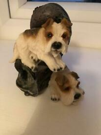 Terriers on a boot ornament