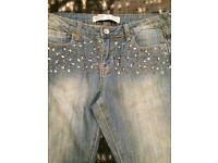 Size 10 skinny jeans with detail at pockets