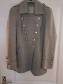 River island grey military stylish coat