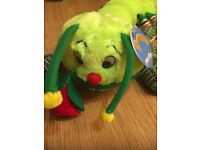 "LOVELY CATERPILLAR - SOFT TOY WITH ""LOVE YOU"" (NEVER USED)"