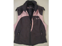 Ladies Dublin Selby Waistcoat, pink and brown, size S
