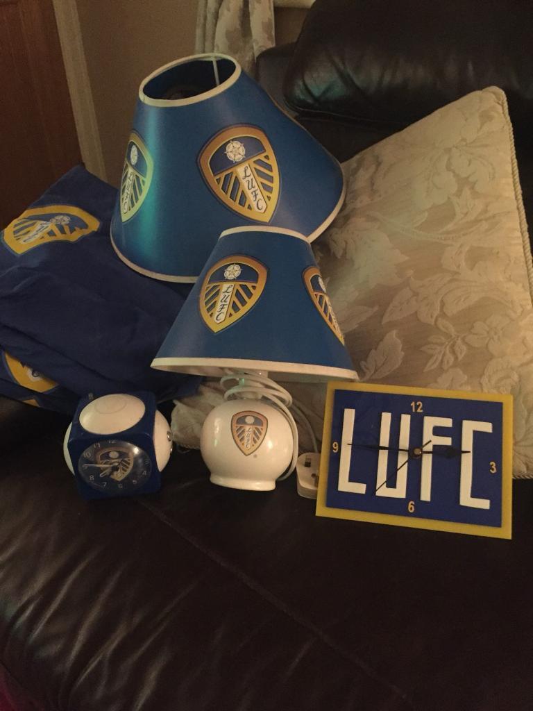 Leeds United bedroom items