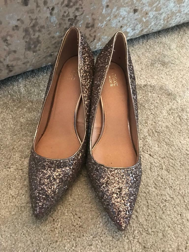 Next sparkly shoes size 7 wide fit  84891bbe7