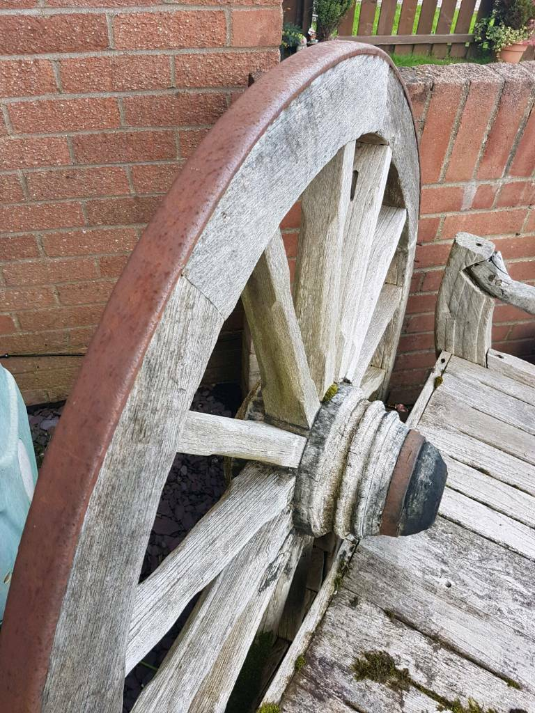 Large Wagon Wheel ( old bench)