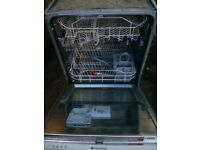 Hotpoint dishwasher. Integrated type. In good, clean condition.