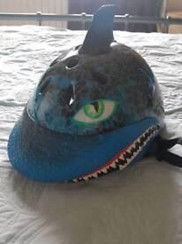 Kids child's shark bike helmet