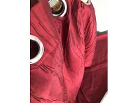 "2 pairs Dark red Crushed effect Full Length Curtains. 3 Pairs. 90"" drop. 44"" wide."