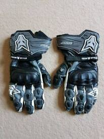 Mens large wolf motorcycle gloves