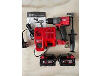 """Milwaukee M18FPD2-0 1/2"""" Fuel Percussion Drill, 2 x 5Ah Batteries & Charger"""