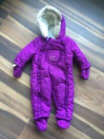 SNOWSUIT / WINTER PRAMSUIT (new) 6-9 month baby.